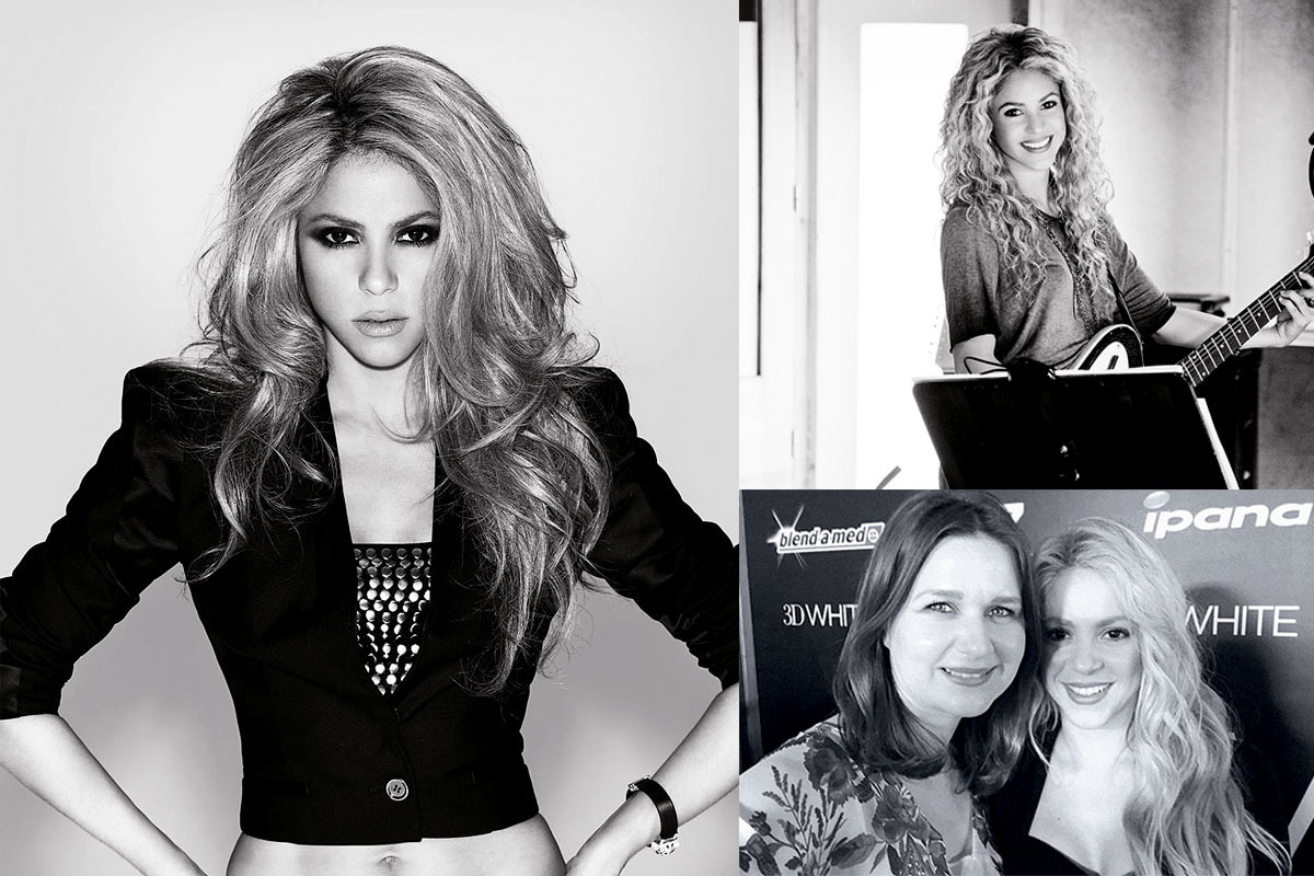 Raluca Hagiu si Shakira_colaj TheIdealist