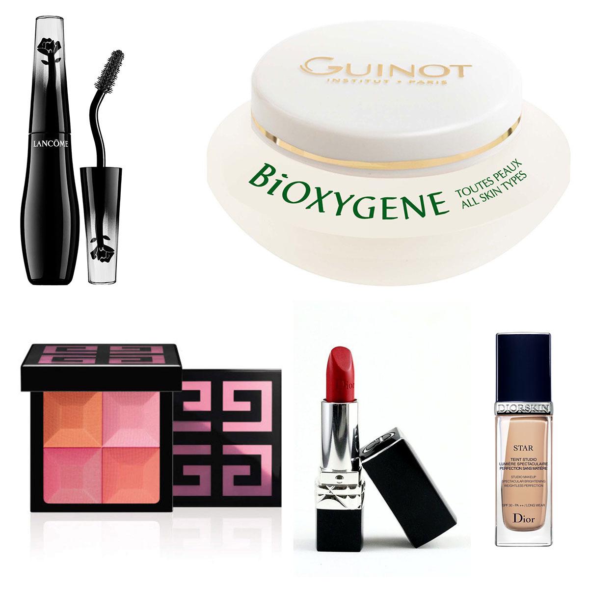 crema-de-fata-bioxygene-de-la-guinot-mascara-lancome-ruj-rosu-dior-blush-le-prisme-givency